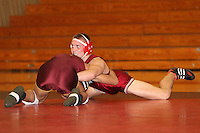 STANFORD, CA - FEBRUARY 6:  165 pounds Nick Amuchastegui of the Stanford Cardinal during Stanford's 20-19 win against the Arizona State Sun Devils on February 6, 2009 at Burnham Pavilion in Stanford, California.