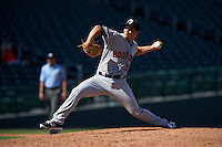 Glendale Desert Dogs pitcher Chris Cotton (35) delivers a pitch during an Arizona Fall League game against the Mesa Solar Sox on October 14, 2015 at Sloan Park in Mesa, Arizona.  Glendale defeated Mesa 7-6.  (Mike Janes/Four Seam Images)