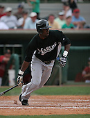 Alejandro De Aza of the Florida Marlins vs. the Houston Astros March 15th, 2007 at Osceola County Stadium in Kissimmee, FL during Spring Training action.  Photo copyright Mike Janes Photography 2007.