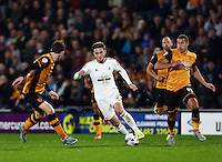 Matt Grimes of Swansea City during the Capital One Cup match between Hull City and Swansea City played at the Kingston Communications Stadium, Hull
