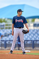 Atlanta Braves pitcher Freddy Tarnok (64) during a Minor League Spring Training game against the Tampa Bay Rays on June 1, 2021 at Charlotte Sports Park in Port Charlotte, Florida.  (Mike Janes/Four Seam Images)