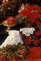 Europe/Autriche/Salzbourg : Détail buffet-Repas de Noël