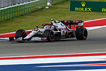 Alfa Romeo Racing driver Antonio Giovinazzi (99) of Team Italy in action during the Formula 1 Aramco United States Grand Prix practice session held at the Circuit of the Americas racetrack in Austin,Texas.