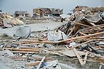 Rubble of town destroyed by tornado