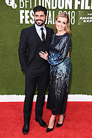 """Andrew Levitas and Katherine Jenkins<br /> London Film Festival screening of """"The White Crow"""" at the Embankment Gardens, London<br /> <br /> ©Ash Knotek  D3447  18/10/2018"""