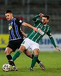 13.01.2021, xtgx, Fussball 3. Liga, VfB Luebeck - SV Waldhof Mannheim emspor, v.l. Gerrit Gohlke (Mannheim, 27), Elsamed Ramaj (Luebeck, 6) Zweikampf, Duell, Kampf, tackle <br /> <br /> (DFL/DFB REGULATIONS PROHIBIT ANY USE OF PHOTOGRAPHS as IMAGE SEQUENCES and/or QUASI-VIDEO)<br /> <br /> Foto © PIX-Sportfotos *** Foto ist honorarpflichtig! *** Auf Anfrage in hoeherer Qualitaet/Aufloesung. Belegexemplar erbeten. Veroeffentlichung ausschliesslich fuer journalistisch-publizistische Zwecke. For editorial use only.