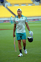 Australia's Marcus Stoinis during the third international men's T20 cricket match between the New Zealand Black Capss and Australia at Sky Stadium in Wellington, New Zealand on Wednesday, 3 March 2021. Photo: Dave Lintott / lintottphoto.co.nz