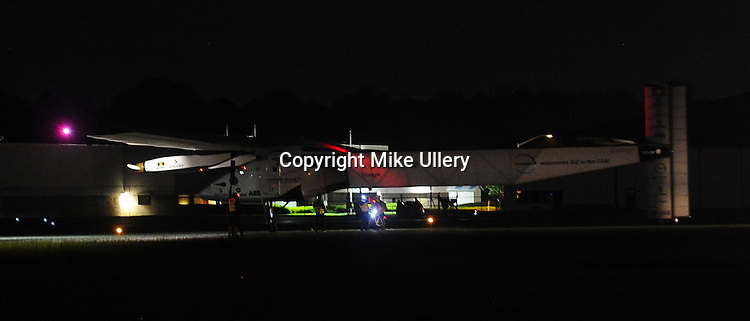 Solar Impulse 2 landed at the Dayton International Airport on May 21, 2016 during its historic around the world flight.