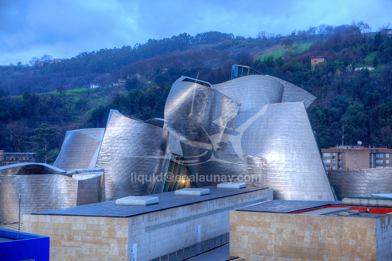Bilbao Guggenheim Museum.<br /> Bilbao is a municipality and city in Spain in the province of Biscay in the autonomous community of the Basque Country.
