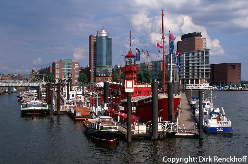 Deutschland, Hamburg, Hafencity und Feuerschiff