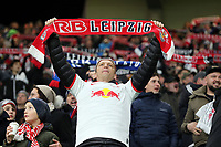 A RB Leipzig fan in full voice during RB Leipzig vs Tottenham Hotspur, UEFA Champions League Football at the Red Bull Arena on 10th March 2020