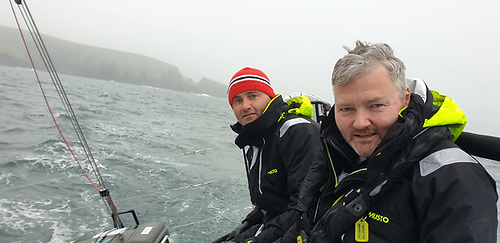 Nick and Pete Smyth round Galley Head last night at 730pm on Searcher Photo: Prof O'Connell