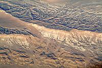 Aerial view of mountains on the Sinai Peninsula, Egypt.
