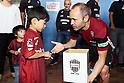 Soccer: Vissel Kobe players collect donations for Hokkaido Earthquake