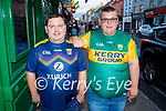 Enjoying the evening in Killarney on Saturday, l to r: Jeffrey and John Brownrig from Kenmare.