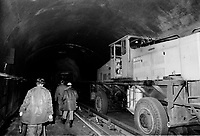 Aftermath of a small fire at Rosemont Metro in Montreal, January 23, 1974<br /> .<br /> <br />  On 23 January 1974, a series of tire blowouts caused a fire which destroyed a nine-car train between metro Laurier and Rosemont.<br /> <br /> <br /> Photo : AQP - Alain Renaud