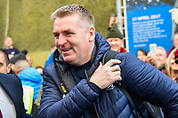 Dean Smith Manager of Aston Villa arriving before the Premier League match between Brighton and Hove Albion and Aston Villa at the American Express Community Stadium, Brighton and Hove, England on 18 January 2020. Photo by Edward Thomas / PRiME Media Images.