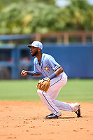 FCL Rays second baseman Gionti Turner (80) during a game against the FCL Twins on July 20, 2021 at Charlotte Sports Park in Port Charlotte, Florida.  (Mike Janes/Four Seam Images)