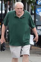 """NEW YORK - SEPTEMBER 18:  74 year old Dramatic actor Brian Dennehy walks to the Bleeker street theater where he's among a rotating cast of Culture Project's """"Exonerated"""" Anniversary Production.  on September 18, 2012 <br /> <br /> People:  Brian Dennehy"""