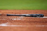 Palm Beach Cardinals bat sitting at home plate during a game against the Bradenton Marauders on August 9, 2016 at McKechnie Field in Bradenton, Florida.  Bradenton defeated Palm Beach 8-7.  (Mike Janes/Four Seam Images)