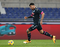 Calcio, Serie A: S.S.Lazio - Napoli, Olympic stadium, Rome, December 20, 2020. <br /> Napoli's Andrea Petagna in action during the Italian Serie A football match between Lazio and Napoli at the Olympic stadium, on December 20, 2020.<br /> UPDATE IMAGES PRESS/Isabella Bonotto