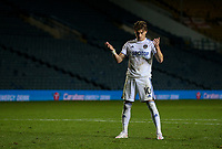Leeds United's EzgjanAlioski reacts after missing a penalty<br /> <br /> Photographer Alex Dodd/CameraSport<br /> <br /> Carabao Cup Second Round Northern Section - Leeds United v Hull City -  Wednesday 16th September 2020 - Elland Road - Leeds<br />  <br /> World Copyright © 2020 CameraSport. All rights reserved. 43 Linden Ave. Countesthorpe. Leicester. England. LE8 5PG - Tel: +44 (0) 116 277 4147 - admin@camerasport.com - www.camerasport.com