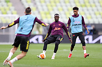 25th May 2021; Gdansk, Poland; Manchester United training at the Stadion Energa Gdańsk prior to their Europa League final versus Villarreal on May 26th;  ERIC BAILLY MARCUS RASHFORD