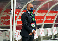 NASHVILLE, TN - SEPTEMBER 5: Earnie Stewart of the United States looks over the field during a game between Canada and USMNT at Nissan Stadium on September 5, 2021 in Nashville, Tennessee.