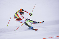 22nd December 2020, Madonna di Campiglio, Italy; FIS Mens slalom world cup race; Michael Matt of Austria in action during his 2nd run of mens Slalom