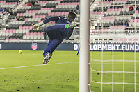 FORT LAUDERDALE, FL - DECEMBER 09: JT   Marcinkowski of the United States makes the save during a game between El Salvador and USMNT at Inter Miami CF Stadium on December 09, 2020 in Fort Lauderdale, Florida.