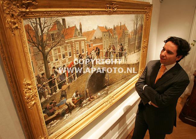 oosterbeek 300306 Rob Albrechts voor schilderij Hankes<br />foto frans ypma APA-foto