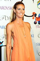 NEW YORK CITY, NY, USA - JUNE 02: Model Heidi Klum arrives at the 2014 CFDA Fashion Awards held at Alice Tully Hall, Lincoln Center on June 2, 2014 in New York City, New York, United States. (Photo by Celebrity Monitor)