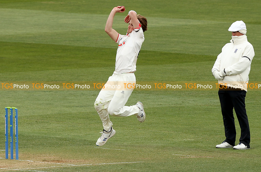 Ben Allison of Essex in bowling action during Essex CCC vs Worcestershire CCC, LV Insurance County Championship Group 1 Cricket at The Cloudfm County Ground on 10th April 2021