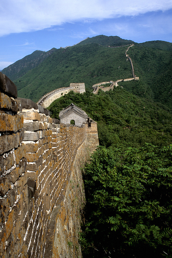 The great Wall of China in Mutianyu