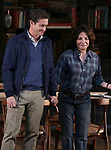 """Hugh Dancy and Stockard Channing during the Opening Night Curtain Call Bows for the Roundabout Theatre Company production of """"Apologia"""" on October 16, 2018 at the Laura Pels Theatre in New York City."""