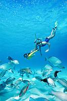 Alexa and Chelsea Snorkeling.St. John.U.S Virgin Islands