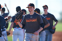 Wesley Hickman (43), from Kennewick, Washington, while playing for the Giants during the Under Armour Baseball Factory Recruiting Classic at Red Mountain Baseball Complex on December 28, 2017 in Mesa, Arizona. (Zachary Lucy/Four Seam Images)