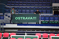 29-01-14,Chech Republic, Ostrava,  Cez Arena, Daviscup Chech Republic vs Netherlands, ,  , practice, <br /> Photo: Henk Koster