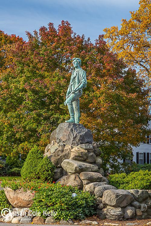 Minuteman statue in Lexington, Massachusetts, USA