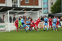 Kent Intermediate Cup Final. Whitstable Town Reserves (Red) V Lordswood Reserves (Blue)