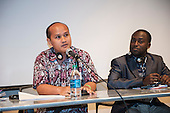 Washington DC, USA. Chico Vive conference, 4th April 2014. Conference speakers Norman Jiwan (Indonesia) and Godfrey Massay (Tanzania).
