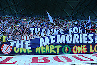 MELBOURNE, AUSTRALIA - FEBRUARY 12: Heart fans show their appreciation of the retiring players in the round 27 A-League match between the Melbourne Heart and Sydney FC at AAMI Park on February 12, 2011 in Melbourne, Australia. (Photo Sydney Low / AsteriskImages.com)