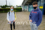 Ready for their Irish Paper 1 Leaving Cert exam in Mercy Mounthawk on Monday, l to r: Cora Savage and Darragh O'Sullivan.