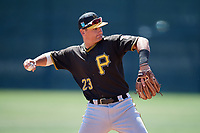 Pittsburgh Pirates Ben Bengtson (23) during a Minor League Spring Training game against the Philadelphia Phillies on March 23, 2018 at the Carpenter Complex in Clearwater, Florida.  (Mike Janes/Four Seam Images)