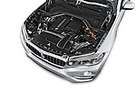 Car Stock 2015 BMW X6 sDrive35i 5 Door SUV Engine high angle detail view