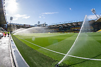 General view of Vicarage Road stadium, home of Watford football club during the Sky Bet Championship match between Watford and Luton Town at Vicarage Road, Watford, England on 26 September 2020. Photo by David Horn.