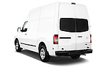 Rear three quarter view of a 2013 Nissan NV 2500 High Roof V8 S Cargo Van
