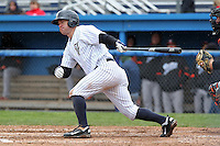Empire State Yankees second baseman Jayson Nix #5 during a game against the Norfolk Tides at Dwyer Stadium on April 22, 2012 in Batavia, New York.  Empire State defeated Norfolk 6-5, the Yankees are playing all their games on the road this season as their stadium gets renovated.  (Mike Janes/Four Seam Images)