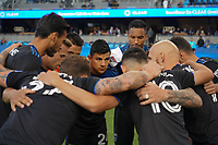 SAN JOSE, CA - MARCH 7: Nick Lima #24 in the San Jose Earthquakes huddle during a game between Minnesota United FC and San Jose Earthquakes at Earthquakes Stadium on March 7, 2020 in San Jose, California.