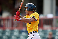 Erie SeaWolves Derek Hill (11) at bat during an Eastern League game against the Altoona Curve and on June 4, 2019 at UPMC Park in Erie, Pennsylvania.  Altoona defeated Erie 3-0.  (Mike Janes/Four Seam Images)